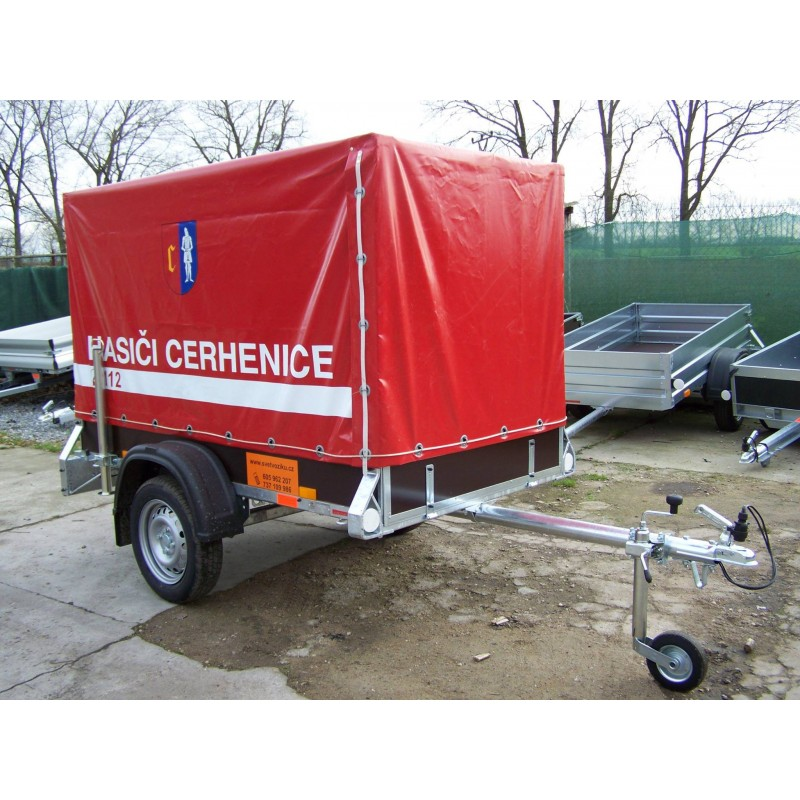 Přívěsný vozík pro hasiče HDV21V1 nebrzděný, 750 kg