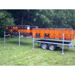 Přívěsný vozík pro včelaře VCARGO D 30.3 brzděný, 3000 kg