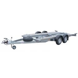 Autopřepravník PA1 ALU brzděný, 2000 kg, 4000 x 1820 mm, 130 km/h