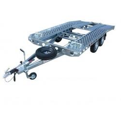 Autopřepravník PAV1 brzděný, 2000 kg, 4010 x 1920 mm, 130 km/h