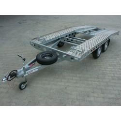 Autopřepravník PAV1 ALU brzděný, 2000 kg, 4210 x 2020 mm, 130 km/h