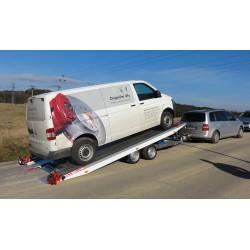 Sklopný autopřepravník IMOLA 35.43 brzděný, 3500 kg
