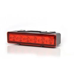 Výstražná záblesková svítilna červená WAS, barevné sklíčko