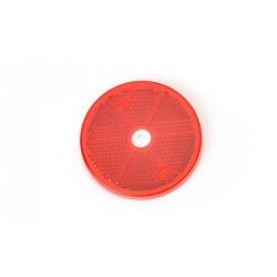 Odrazka červená kulatá pr. 61 mm WAS s otvorem