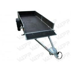 Přívěsný vozík PV1 PROFI nebrzděný, 3030x1530 mm, 750 kg, zesílená náprava