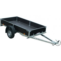 Sklopný přívěsný vozík PV1 nebrzděný, 2530x1280 mm, 750 kg