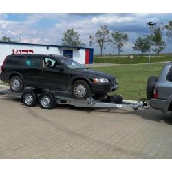 Plošinový autopřepravník PA 2700 brzděný, 2000 kg, 4000 x 1980 mm, 130 km/h