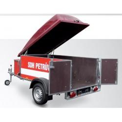 Přívěsný vozík pro hasiče DV21 skříň na motorové čerpadlo a příslušenství