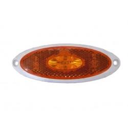 Svítilna boční obrysová Jokon LED SMLR 2010 / 12V s odrazkou (bílé tělo)