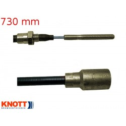 Lanovod brzdový KNOTT 730 / 940 mm, závit M8