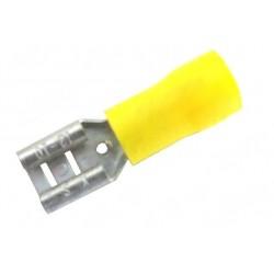 Konektor plochý izolovaný FASTON 6,3x2,5-6 žlutý