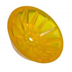 Koncovka rolny kuželová 4'' žlutá PVC, pr. 130 mm, d14 mm, l40 mm