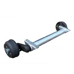 Náprava na přívěsný vozík KNOTT GB 10, 1000 kg, 1000 mm, 200x50, 112x5