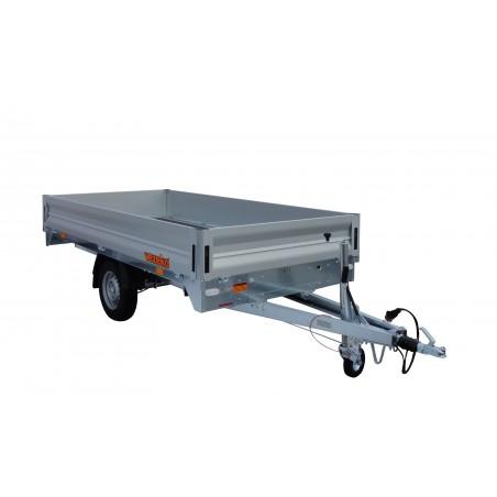Přívěsný vozík Cargo DX 14.3 Light brzděný, 1400 kg, zesílená náprava 1500 kg