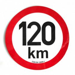 Omezení rychlosti 120 km...