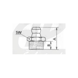 H1 - M10x1 Mazací hlavice