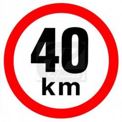 Rychlost 40 km/h -...