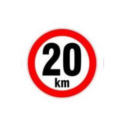Rychlost 20km/h - samolepka