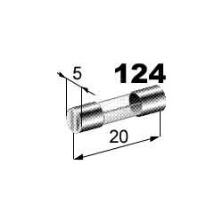 Pojistka 15A skleněná 5x20mm