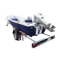 Přívěsný vozík na přepravu člunů Falkon 13R nebrzděný, 750 kg