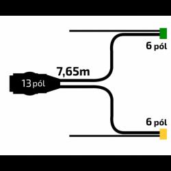 Kabeláž VAPP 7,65m/13-pól....