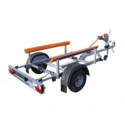 Přívěsný vozík na přepravu člunů Falkon 08.22 R13 nebrzděný, 750 kg