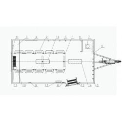 Stavební buňka Mobi 42-4200 brzděný, 1300 kg