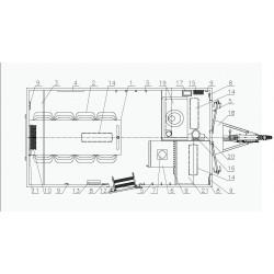 Stavební buňka Mobi 42-4211 brzděný, 1300 kg