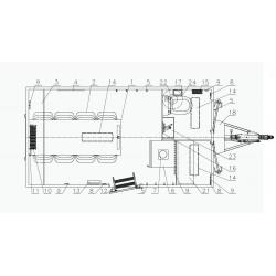 Stavební buňka Mobi 42-4212 brzděný, 1300 kg