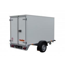 Překližkový skříňový přívěsný vozík PS 21 B 1000 brzděný, 1000 kg
