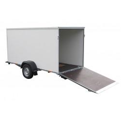 Překližkový skříňový přívěsný vozík PS 21 B 1300 brzděný, 1300 kg