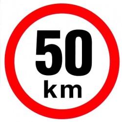 Samolepka rychlosti 50 km
