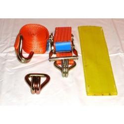 Trojbodový upínací systém š. 50 mm, 3m / 2000 daN + hák + PVC návlek